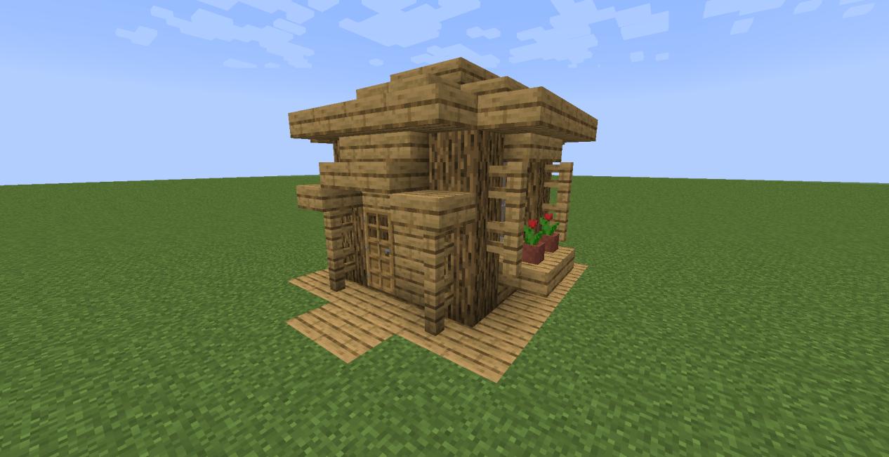原创我的世界萌新不想睡山洞?建造6x6格袖珍房,生存初期也能有家