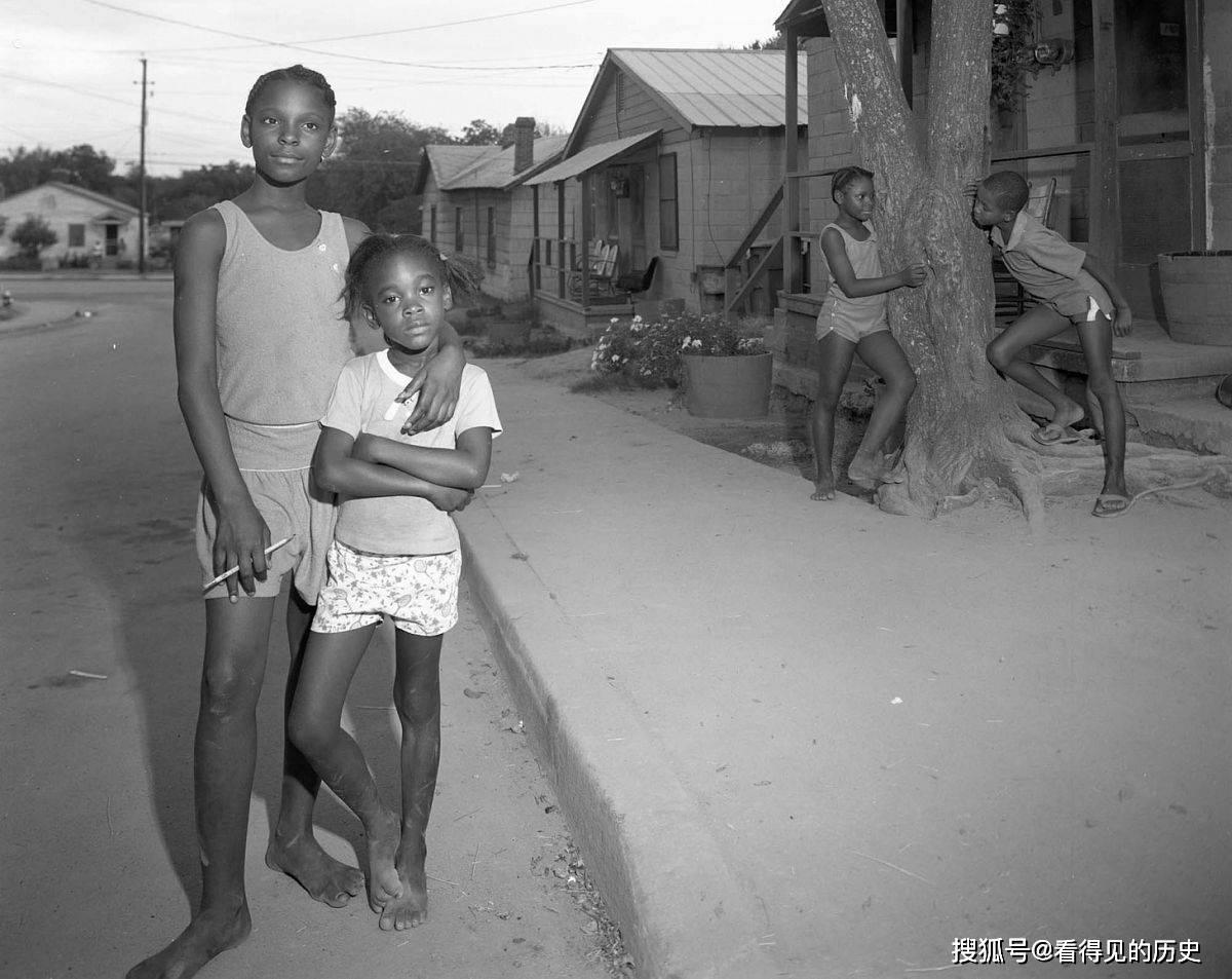 老照片 80年代美国南方的黑人  看看美国的另外一面