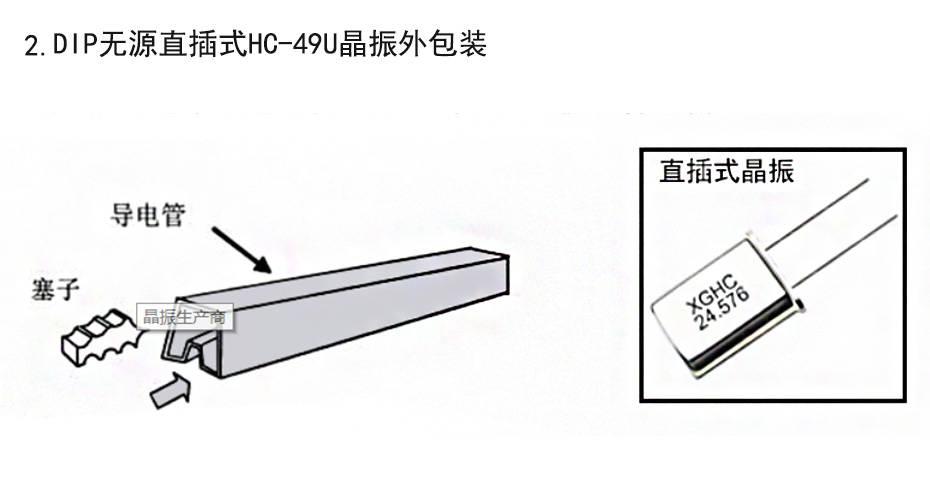 2. DIP无源直插式HC-49U晶振外包装 pcb中晶振