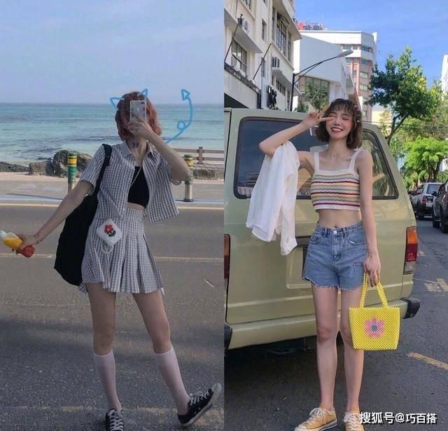 原创             chic又少女的夏日搭配,轻松打造度假风,端午前后这样穿超好看