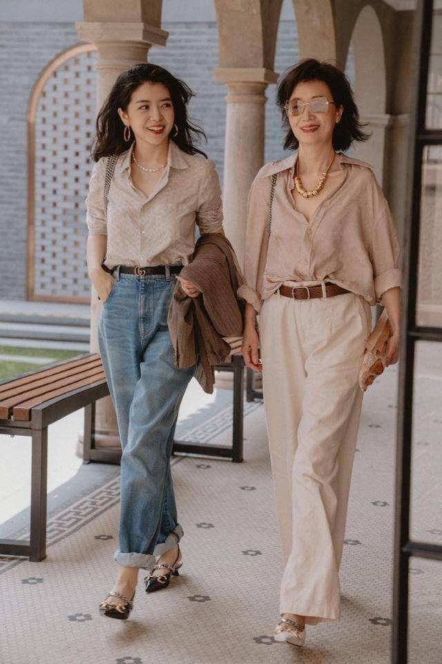 三木博主牛仔裤穿搭真气质,简约中自带高级,适合30+女士copy