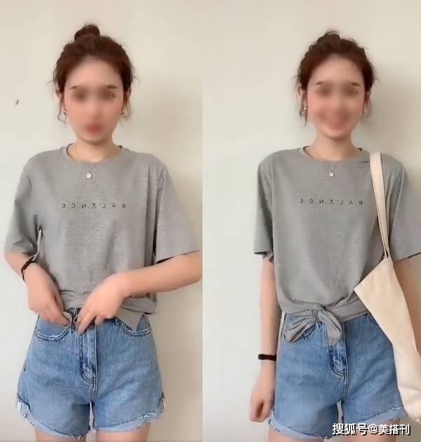 休闲T恤烂大街?学会六种穿法get差别的美感,再也不愁撞衫尴尬了