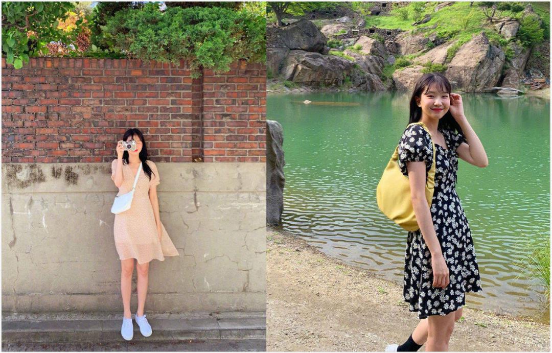 短裤@,夏日造型当然要清爽多一点,搭配明亮的颜色做最甜的小仙女