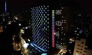 巴西   酒店墙面灯光艺术灯光设计
