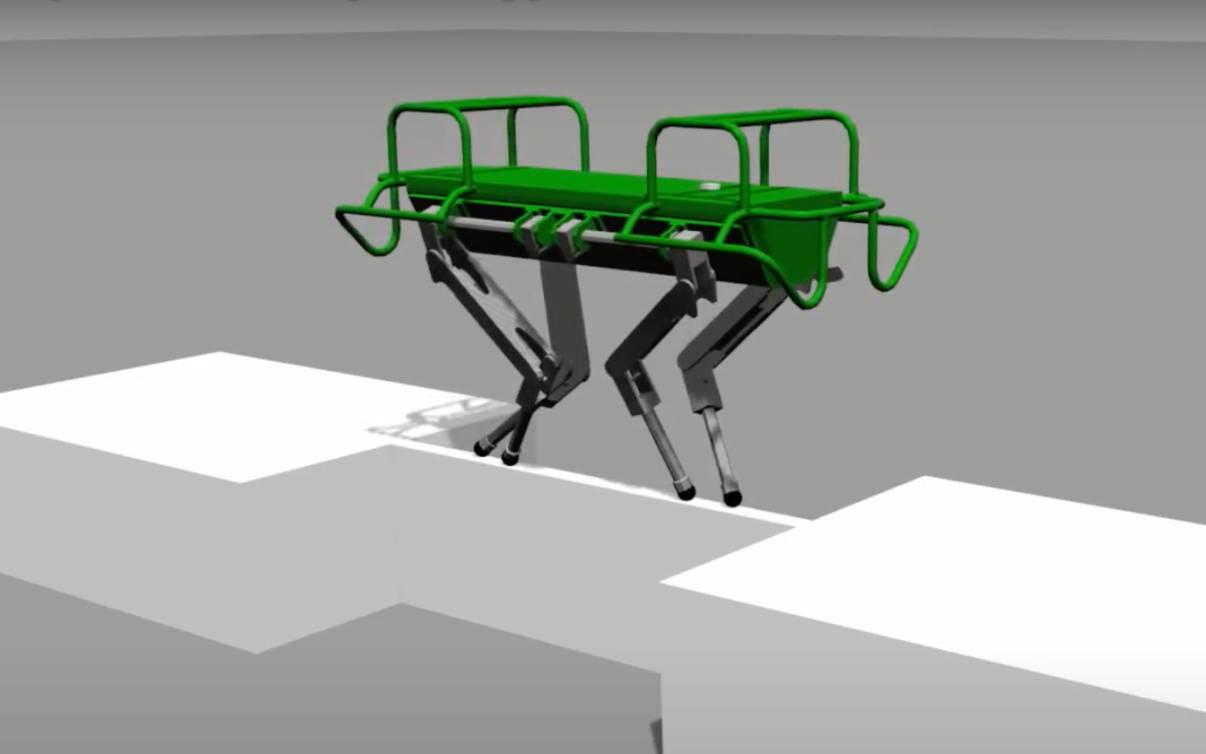 减速电机品牌大全,四足机器人新研究:用双脚也能保持平衡_两条腿