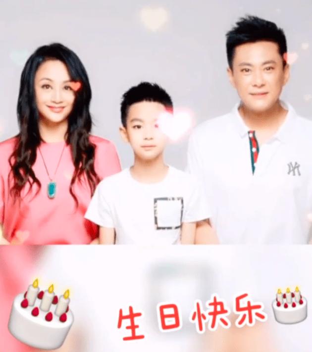 曹颖为老公王斑庆祝生日分享一家三口合照送温暖祝福