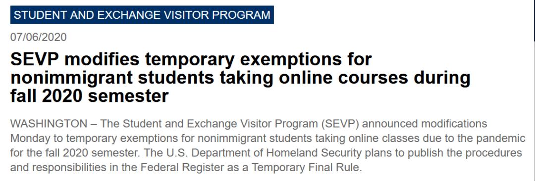 原创             美国突发新规,留学生只上网课或被遣返,新生也不能入境!