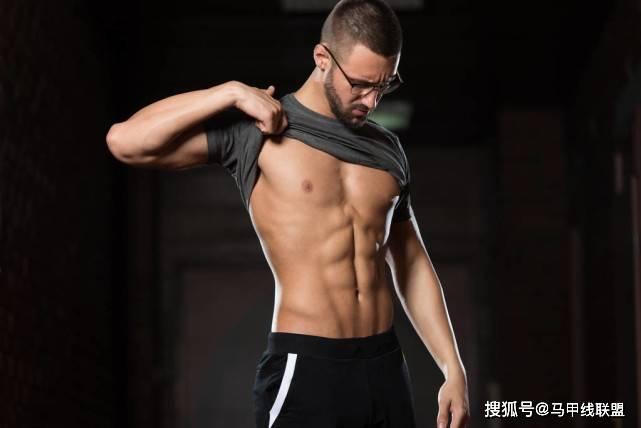 """怎么塑造6块腹肌?6个动作有效""""虐腹"""",助你练出完美腹肌!_线条"""