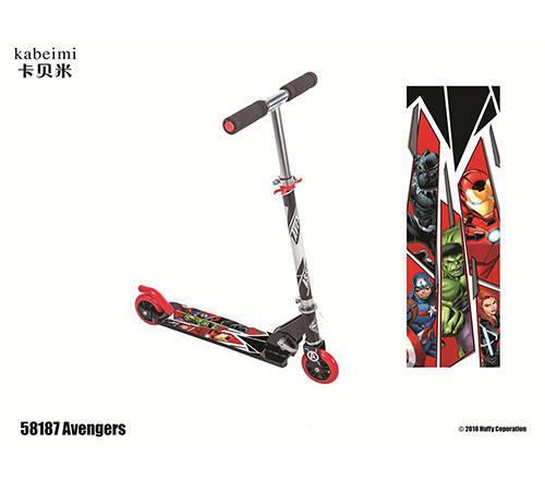 卡贝米滑板车:在一岁半的时候玩滑板车