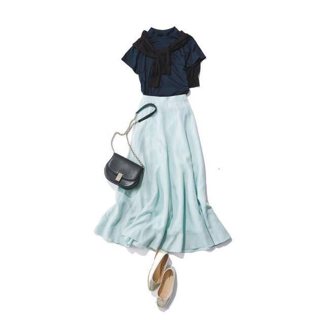 这周穿什么   抓住最后夏天穿裙子的机会 长半裙的日系搭配法