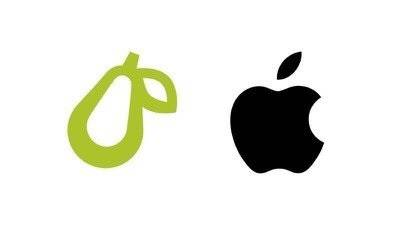 """【认为徽标过于相似,苹果对 """"梨""""公司展开法律行动】"""