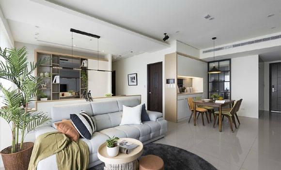 现代风格三房装修,设计简约时尚很清爽,不高级却特别舒服!