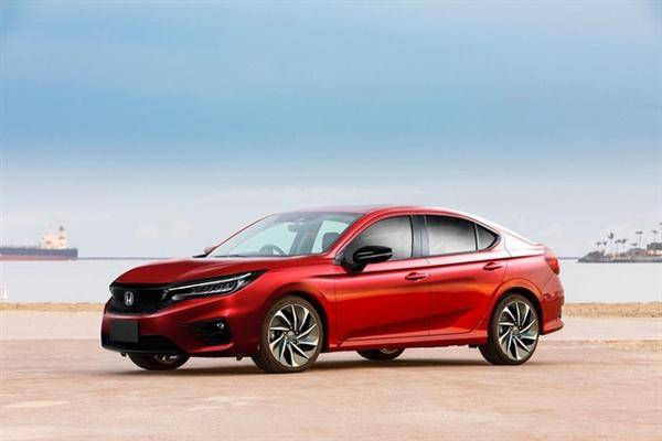 全新本田思域渲染图曝光,新车将于2022年上市发售
