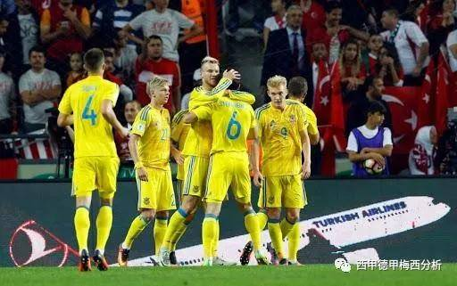 ,乌克兰小组赛3胜1负,而在去年的欧洲杯预选赛