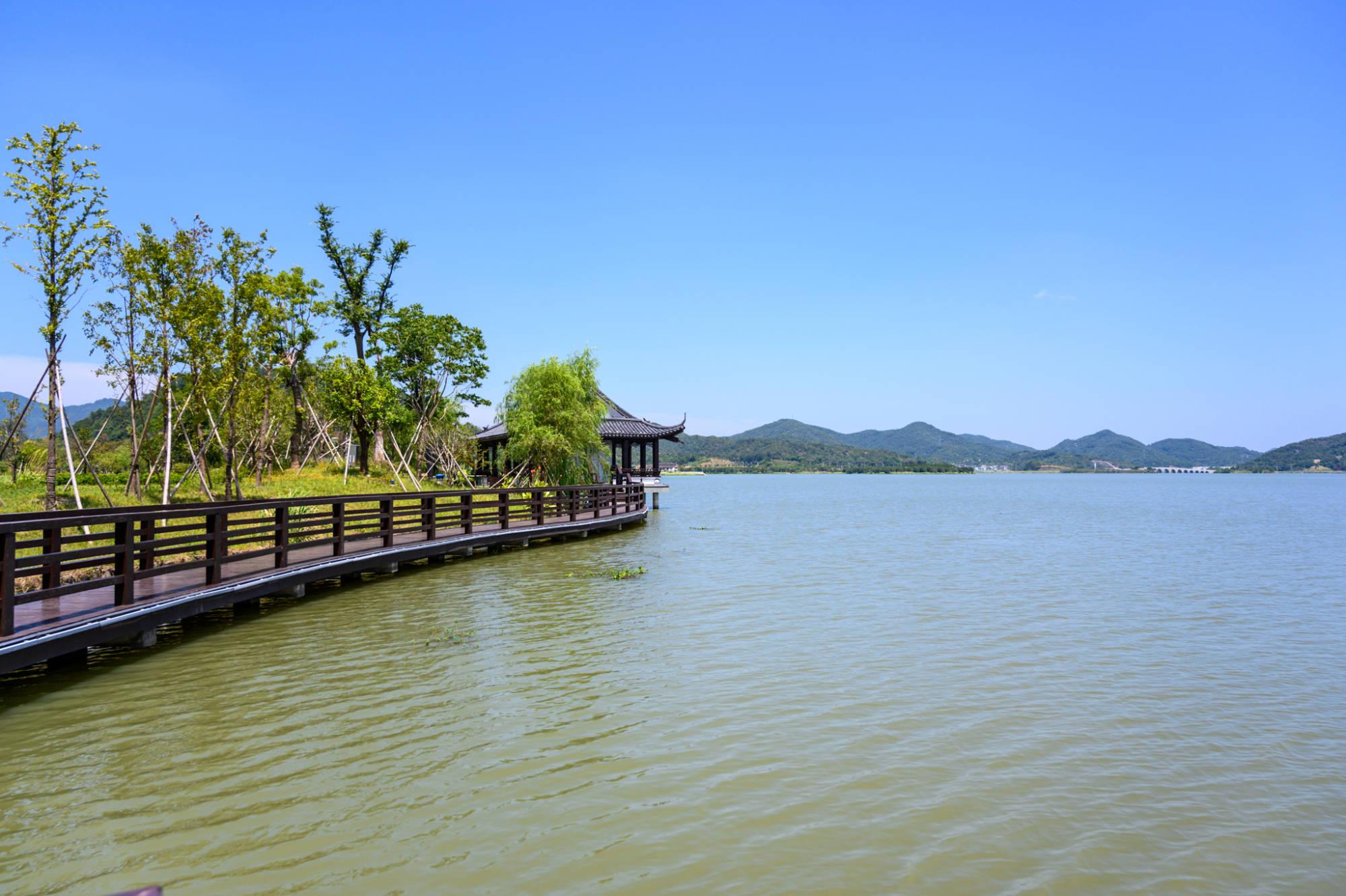 上虞第一大淡水湖皂李湖,可与杭州西湖