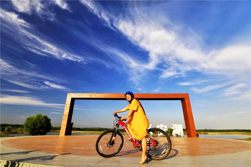 原创             北京天安门正南50公里,2000平米的自行车骑行公园,风景美如画卷