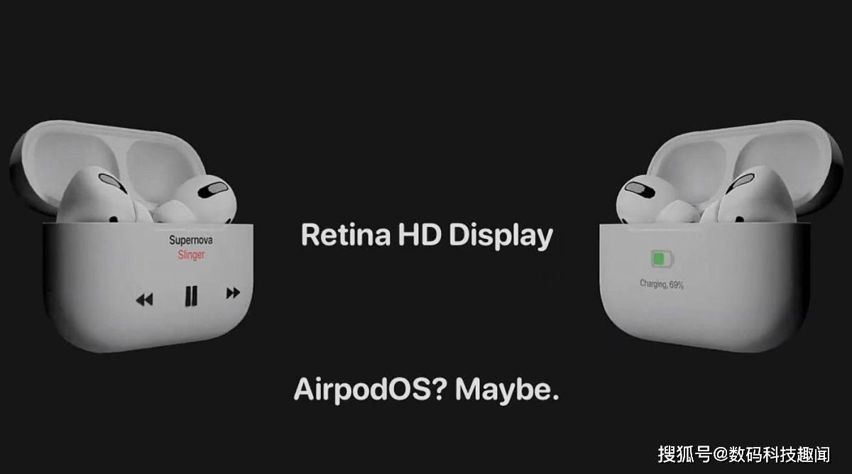 AirPods Pro 2概念设计曝光:Retina HD屏幕,可显示来电呼叫等信息!