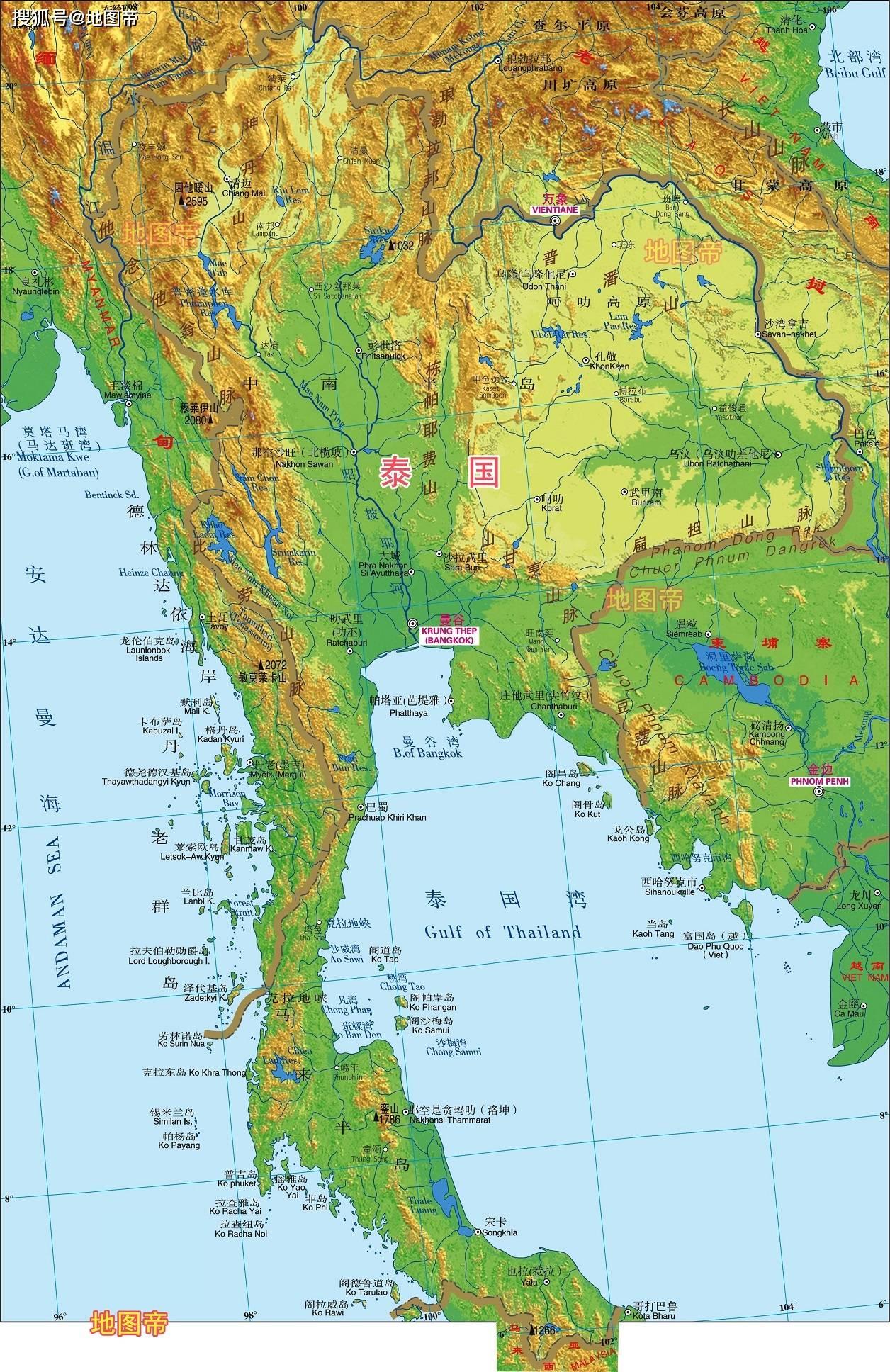 中南半岛有哪7个国家 看地图一目了然 知乎图片