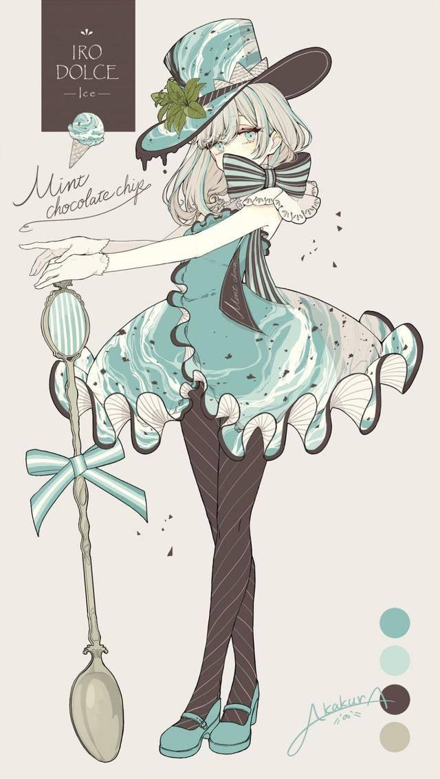 原创             画师将甜品变成美少女,芒果布丁变双马尾,珍珠奶茶超可爱!