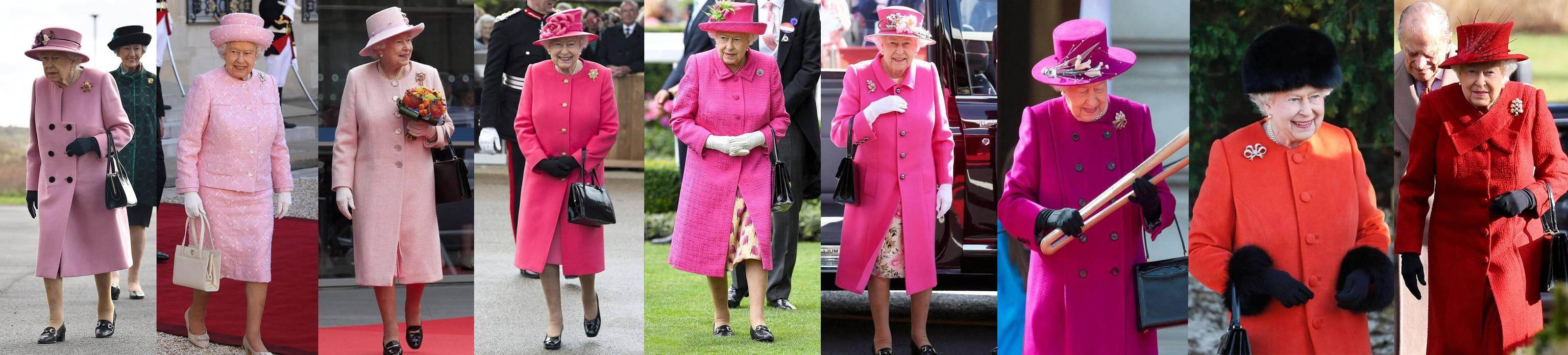 原创             英女王时隔七月终于现身,穿蜜桃粉大衣太可爱,彩虹造型展少女心