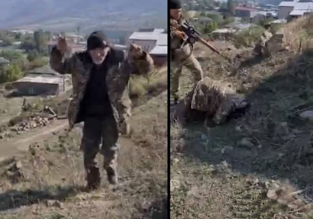 原创   亚美尼亚发动全民,大批老人扛枪上前线,阿塞拜疆公开处决战俘    第2张