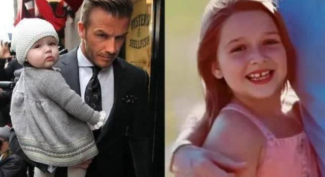 贝克汉姆带娃惹争议,女儿一笑毁所有,安抚奶嘴到底该不该用?