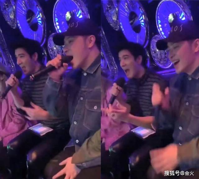 王力宏潘玮柏KTV嗨唱,歌声不如一旁美女?被指水平就像普通人