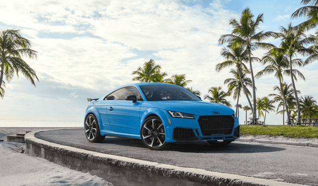 全新奥迪TT RS原厂发布,外观套件越来越运动,价格也上涨