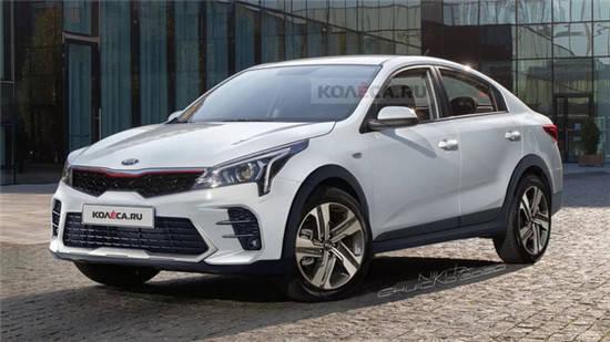 全新起亚Rio X原厂效果图曝光,新车将搭载1.4L和1.6L发动机