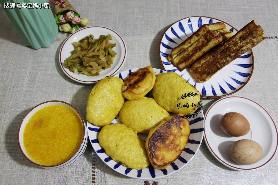 原贤媳妇做早餐,中西合璧,营养又经济,大人小孩吃好