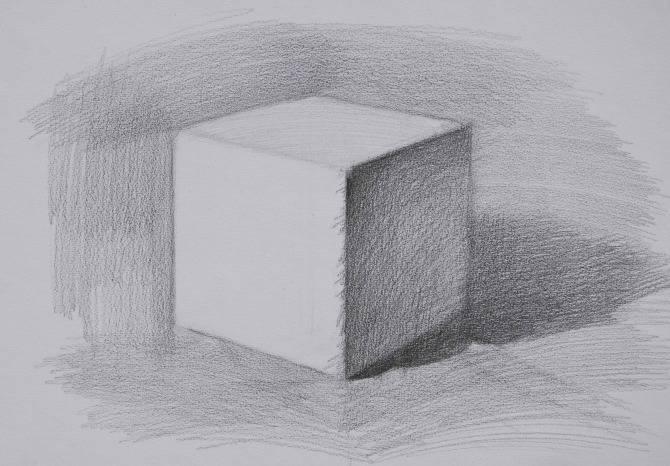 素描石膏像正方体如何画?怎么画好素描正方体? 教学教程-第4张
