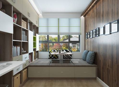 三款比较实用的多功能书房格局设计