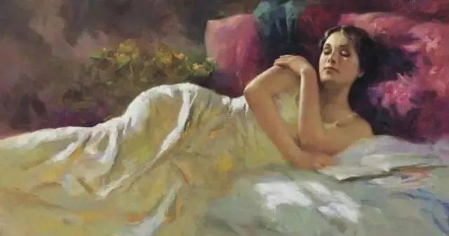 油画中的睡美人,优美,性感且妩媚