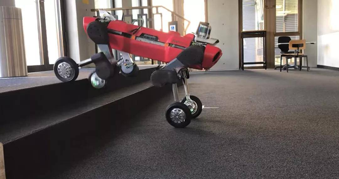 """苏黎世联邦理工学院开发了一种轮式""""机器狗"""",可以行走和滑行。官方吐槽:爬楼梯有点难"""
