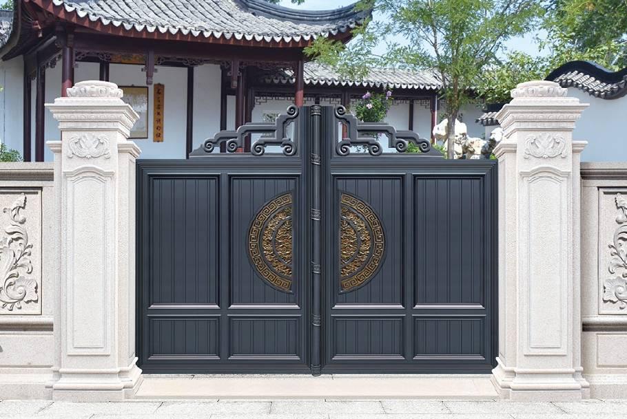 中式铝艺大门带您领略中式建筑的儒雅韵味