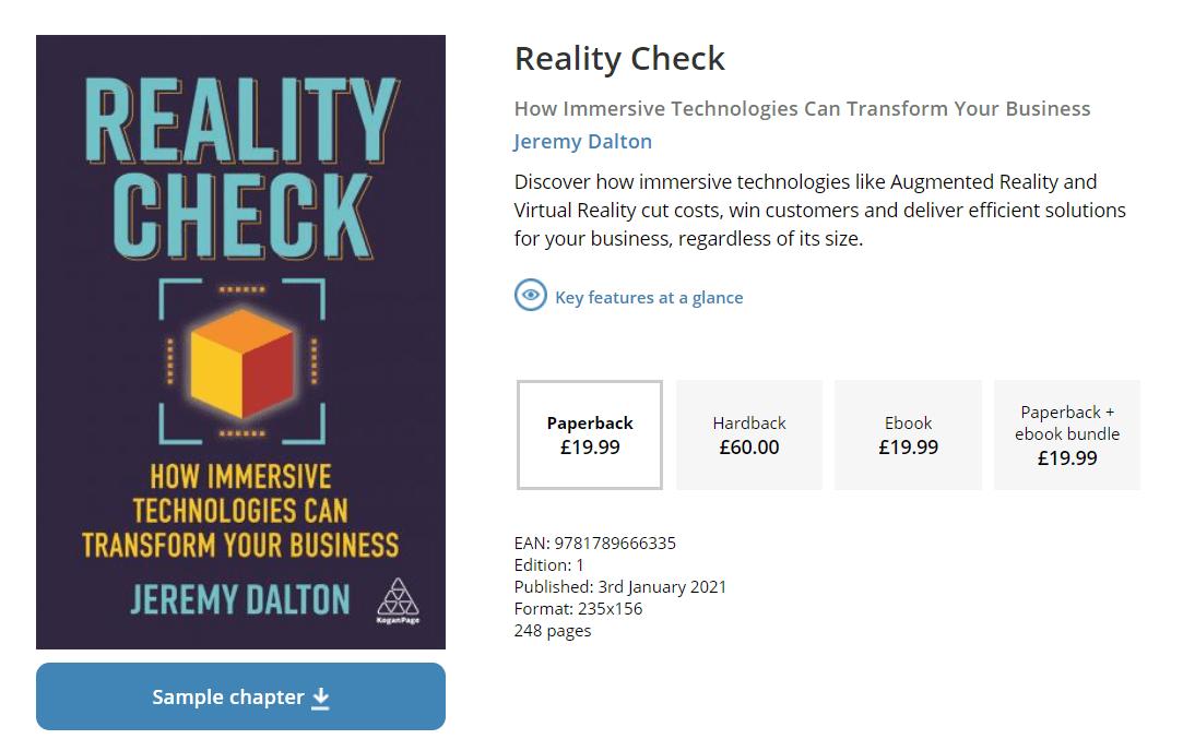 新书上市!普华永道AR/VR负责人推出《Reality Check》,助力ToB业务采用