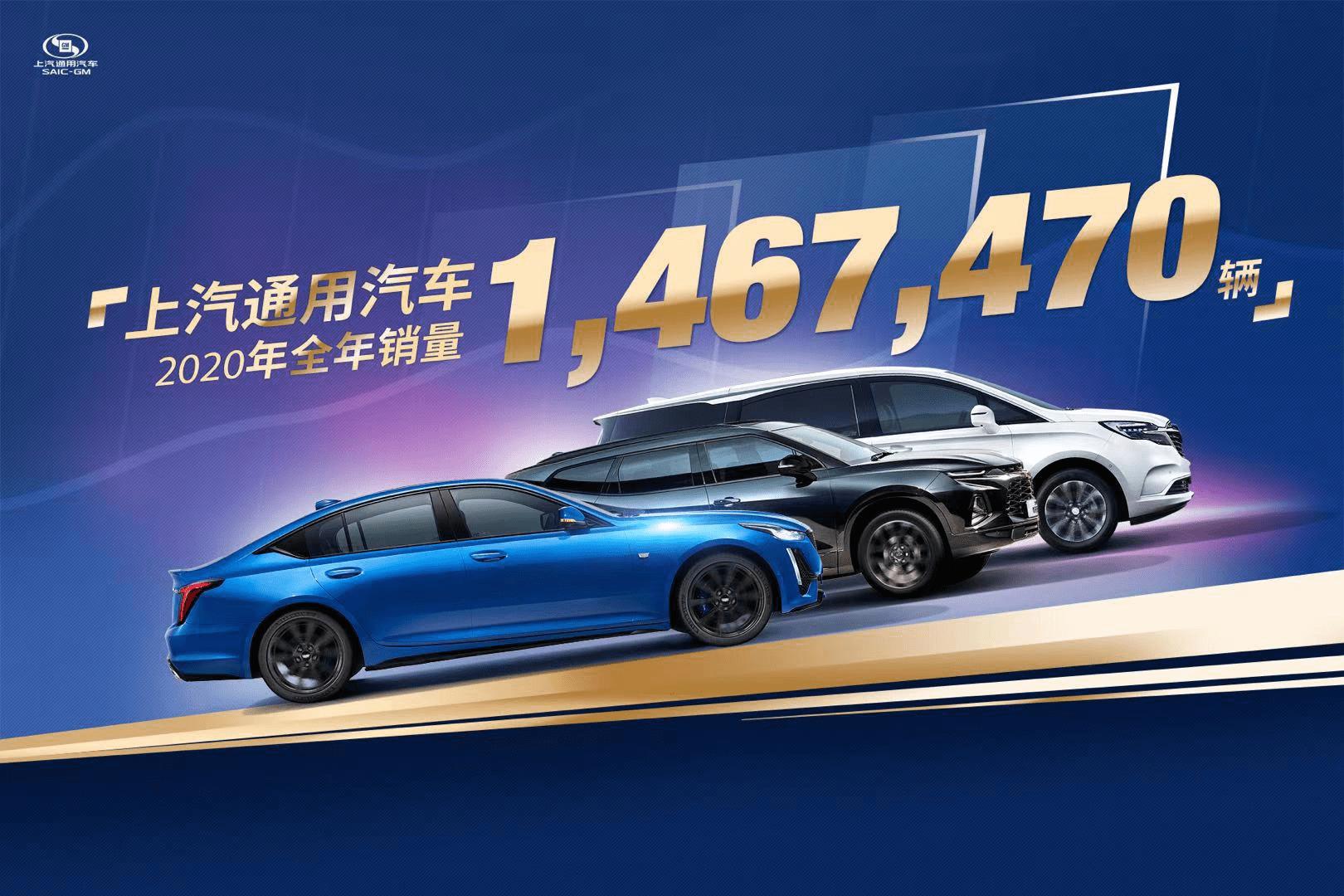 产品结构调整成效显著,上汽通用2020全年销售超146.7万辆_销量