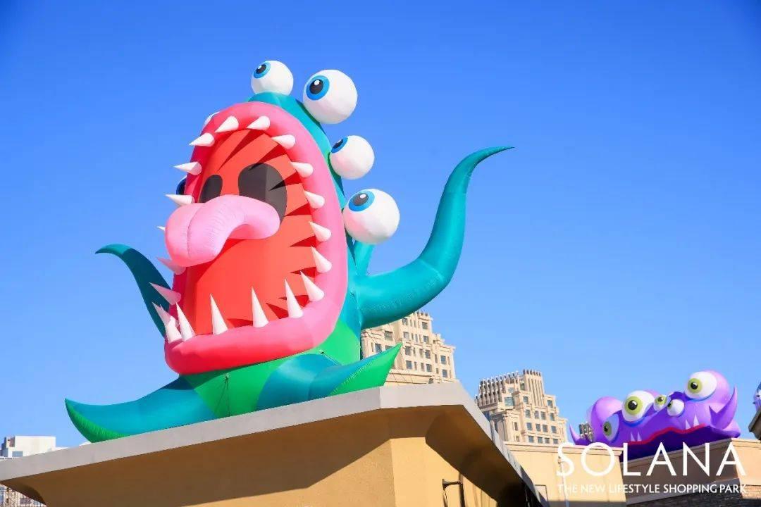 """蓝色港湾灯光节惊现""""巨型怪兽"""",开启你的历险之旅吧"""