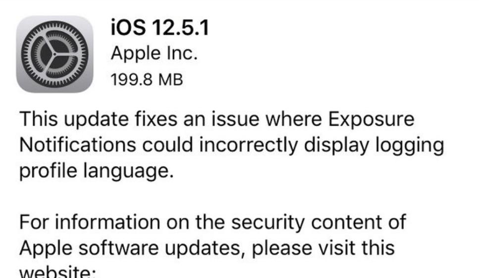 【苹果 iOS 12.5.1 正式版发布:iPhone 6/Plus 等旧机型可升级】