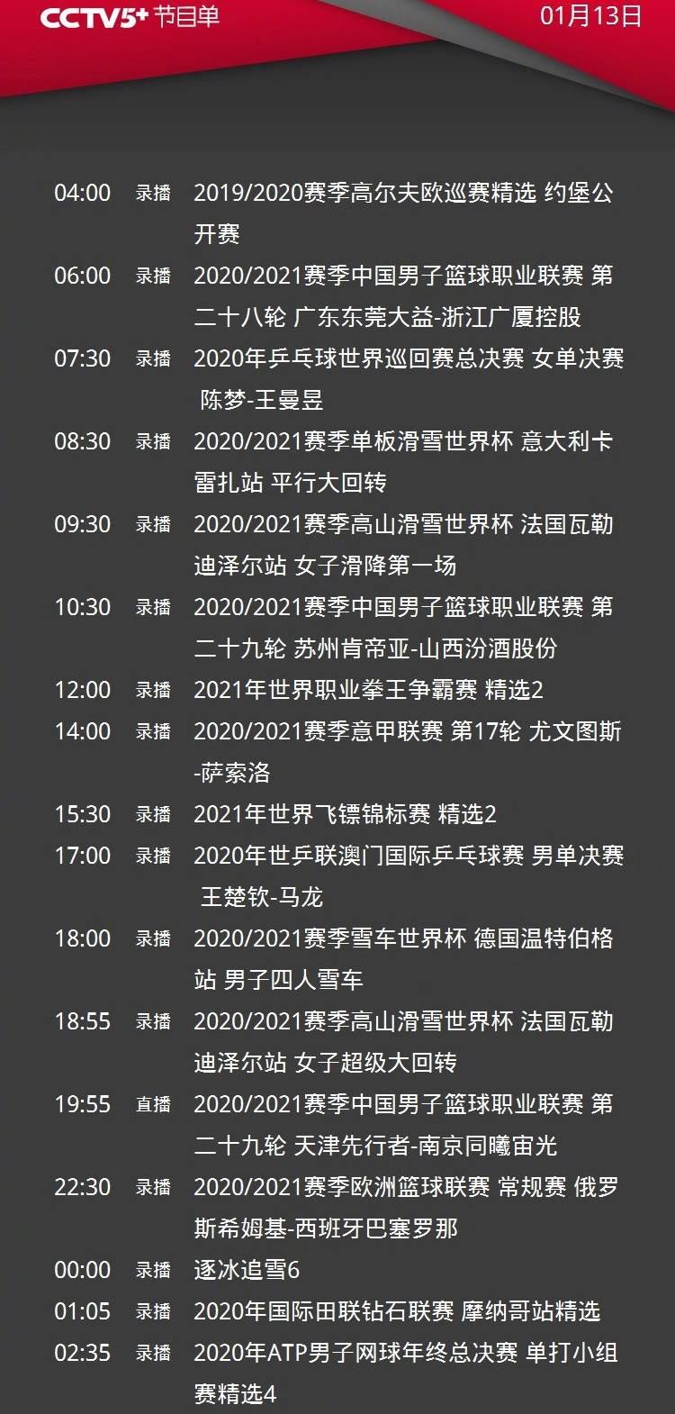 CCTV5直播CBA广东男篮vs史上最水总冠军四川+斯诺克大师赛丁俊晖PK奥沙利文