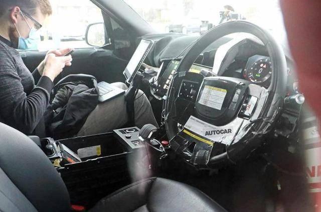 全新一代路虎揽胜内饰图曝光 大尺寸双大屏 或搭载V8发动机