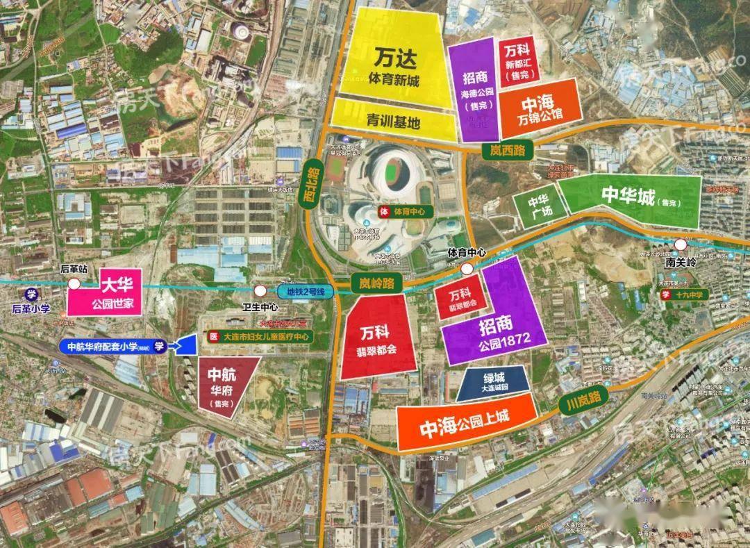体育新城、大连湾2所新小学规划公示 新