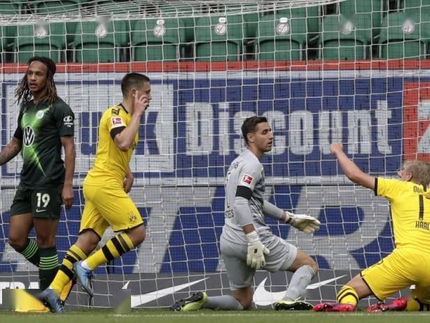 德甲-多特蒙德2-0胜10人狼堡取两连胜 带刀后卫2场3球