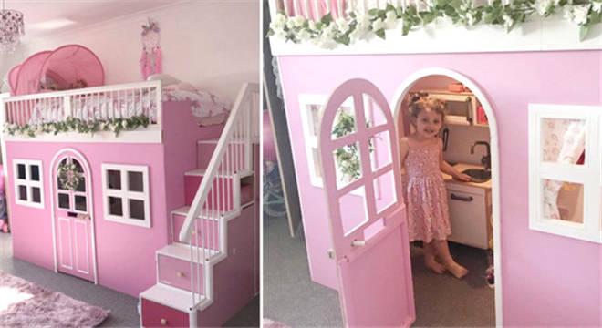 中国青年网|外公花20英镑为外孙女打造公主小屋床