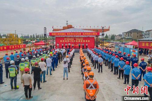 杭州地铁8号线开始铺轨 系亚运会重点市政配套建设项目