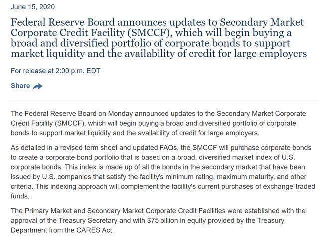 美联储官宣:二级市场信贷便利工