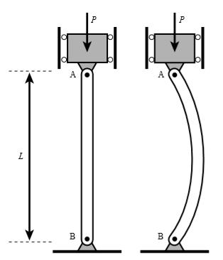 轴向弯折实验来源于材料力学中的挫曲现象