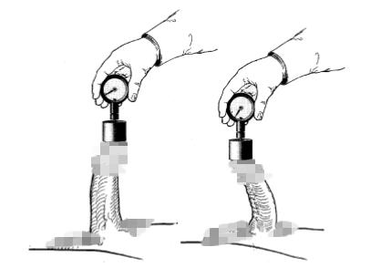 轴向弯折实验示意图