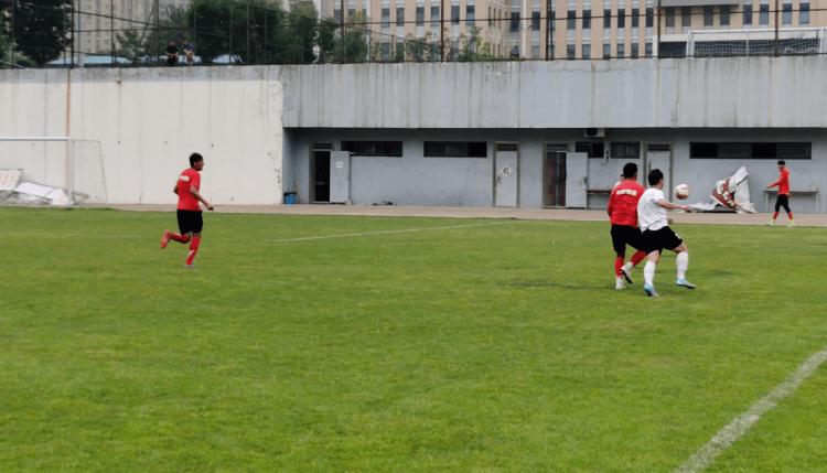 中乙新军青岛中创恒泰队与青岛中能U23梯队进行了一场热身赛