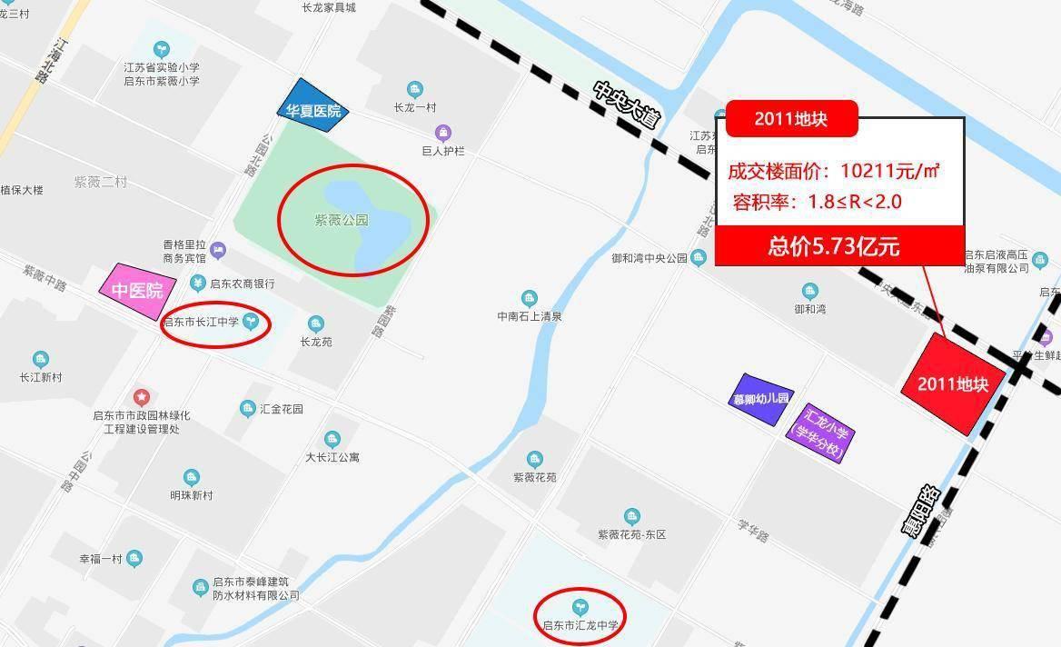 土拍快讯|启东再现万元地!盛和房地产以5.73亿元斩获2011地块